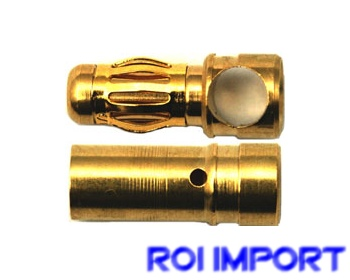 Conector banana oro 3,5 mm