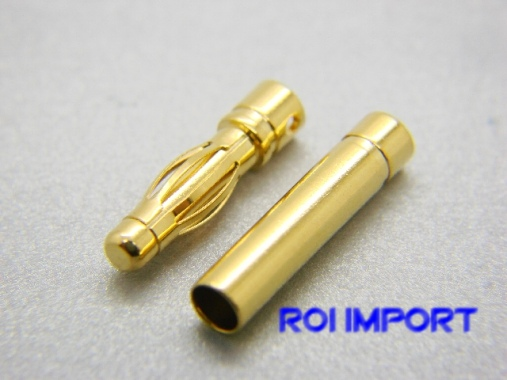 Connectors banna oro 4 mm (M/F)