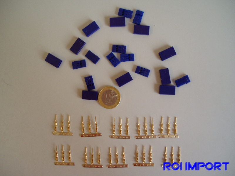 Conector JR/Uni Servo macho BLUE silicon (10 pcs)