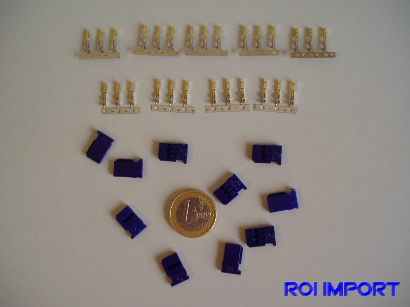 Conector FUTABA Servo female BLUE silicon (10 pcs)