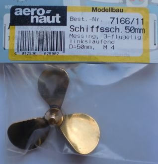 Propeller AERO-NAUT M4 50 mm (3 Blades pr) (Right hydropropeller