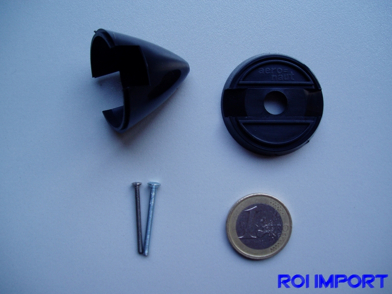 36 mm black plastic spinner for fixed propeller