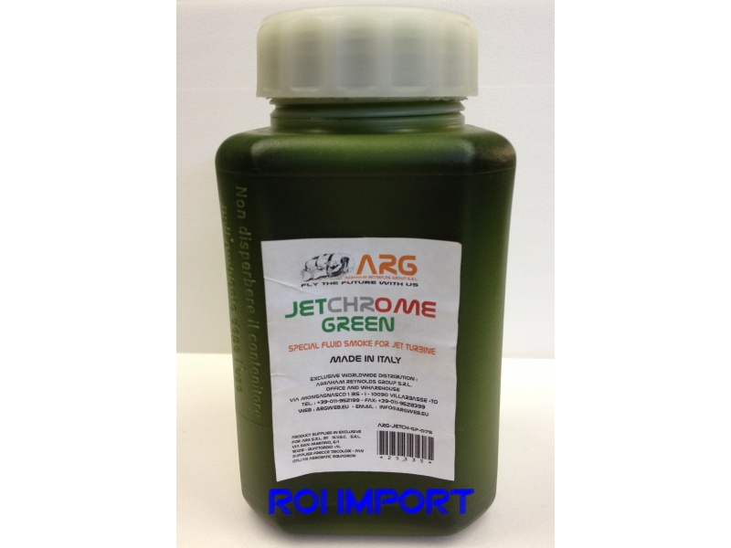 GREEN Colored Liquid smoke for turbine 0.75 l