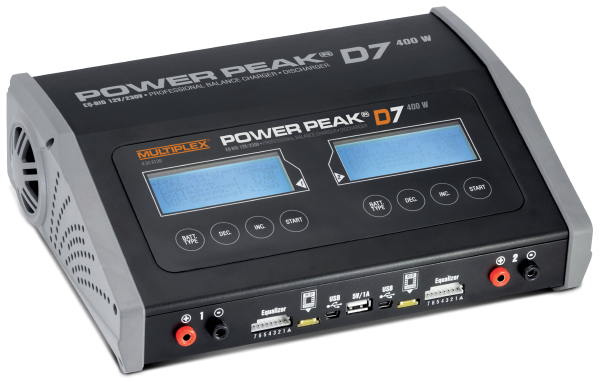 POWER PEAK D7 EQ-BID 12V/230V-Duo Charger