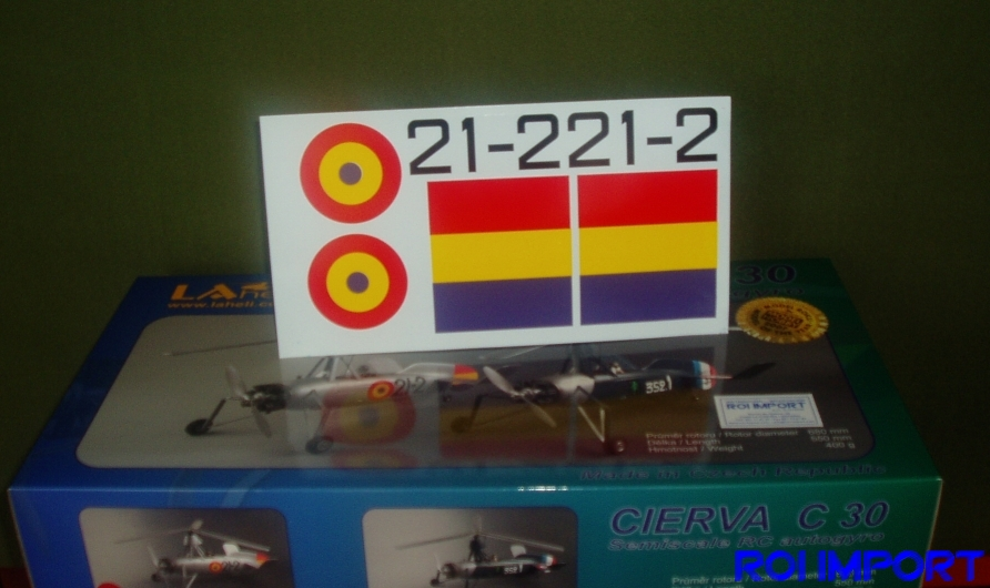 Cierva C30 spanish decoration Stickers
