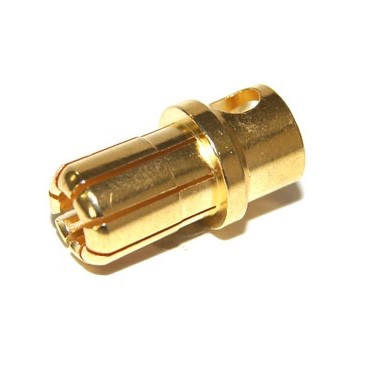 Conector banana oro 8,0 mm (macho)