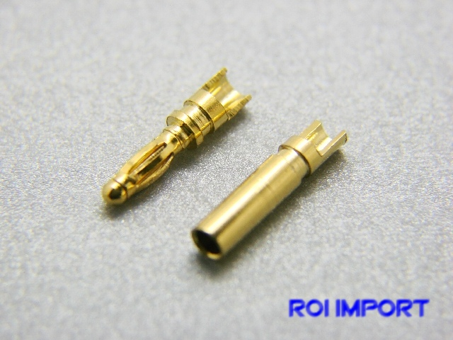 Connectors banna oro 2 mm (M/F)