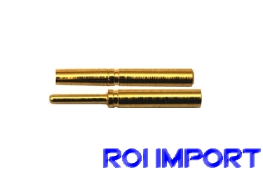 Conector banana oro 0,8 mm