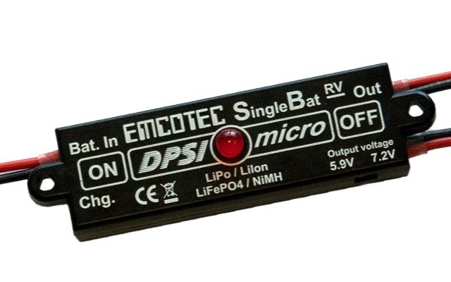 DPSI Micro SingleBat 5.9V/7.2V F3A Edition magnetic switch