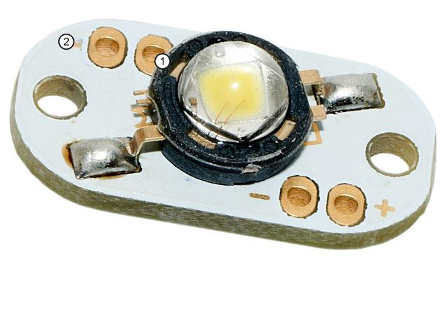 Luces LED 3 Watt. PCB Set: 1x blanca, 1x roja, 1x verde