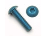 Anodized alum. M4x0,7x20 mm Button Head screw (4 dark blue pcs)