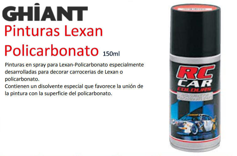 Painting GHT Lexan Black 150 ml