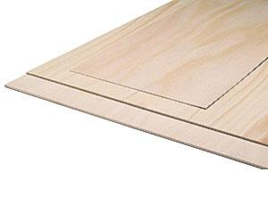 A/C quality beech plywood 600x300x1.5 mm