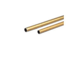 Hard brass tubing (L 1000 mm, Ø2.0 mm, Ø1.2 mm)
