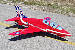 BAE HAWK Mini 1.29m RED ARROW ARF +elec.L.Gear + 3 Microservos