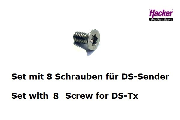 Screws of the Back Cover for DS14/16/24-Tx (8pcs.)