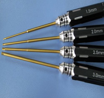 Extra Hard Titanium Herxagon Screwdrivers