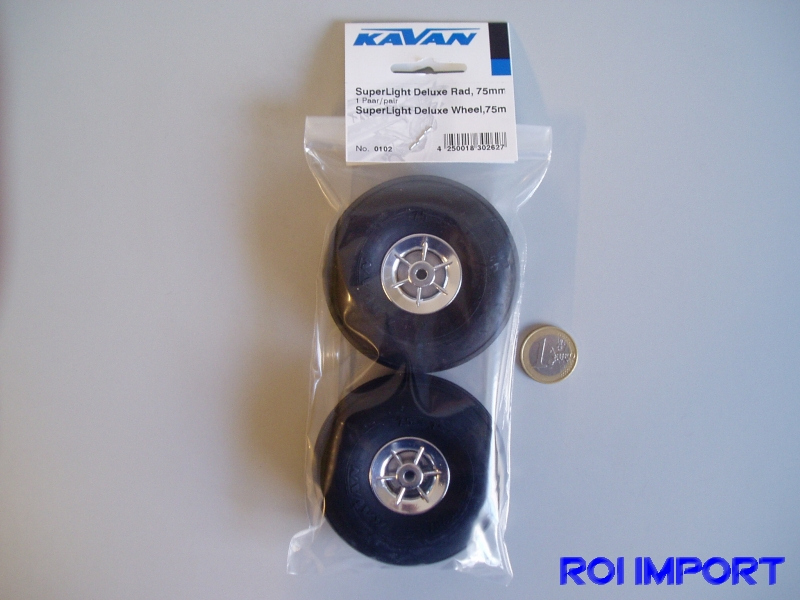 Rueda superlight deluxe 75 mm (2 pcs)