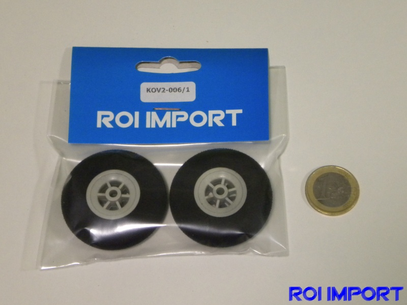 45x19 mm hard foam KOVO wheel (2 pcs)