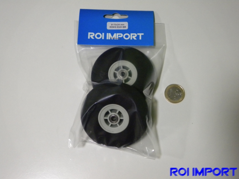73x24 mm hard foam KOVO wheel with bearing (2 pcs)
