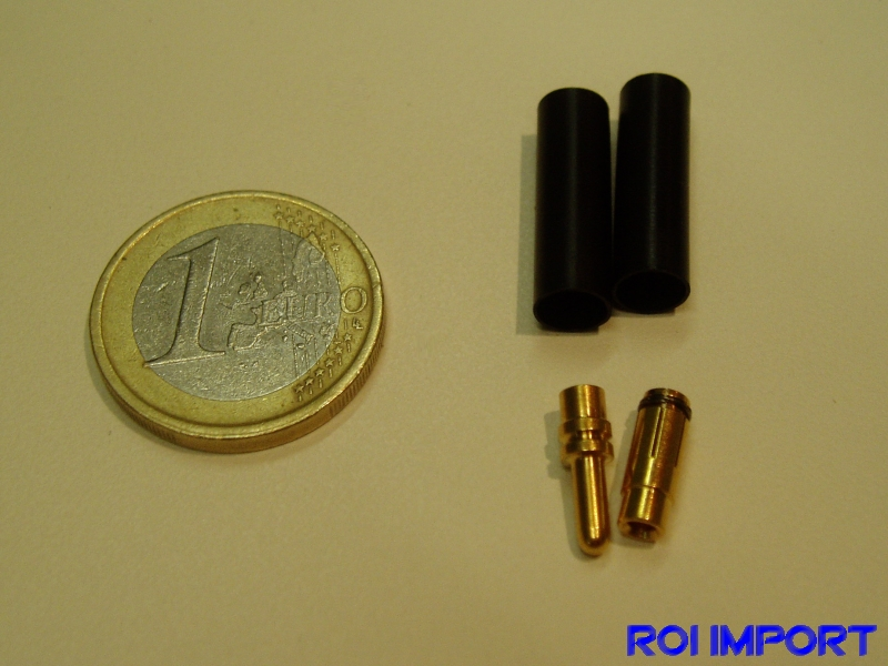 Banna gold connector 2,5 mm (M/F)