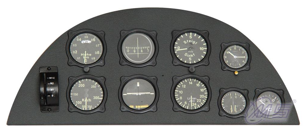 DH82 Tiger Moth Scale 1:3.3 <b>Panel Instrum. frontal</b>