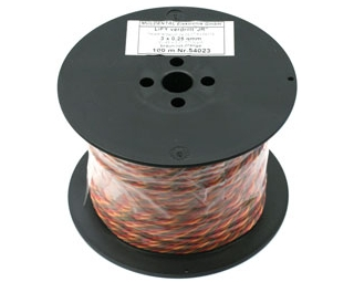 Cable servos PVC 0,14 mm2 Graupner (100 m)