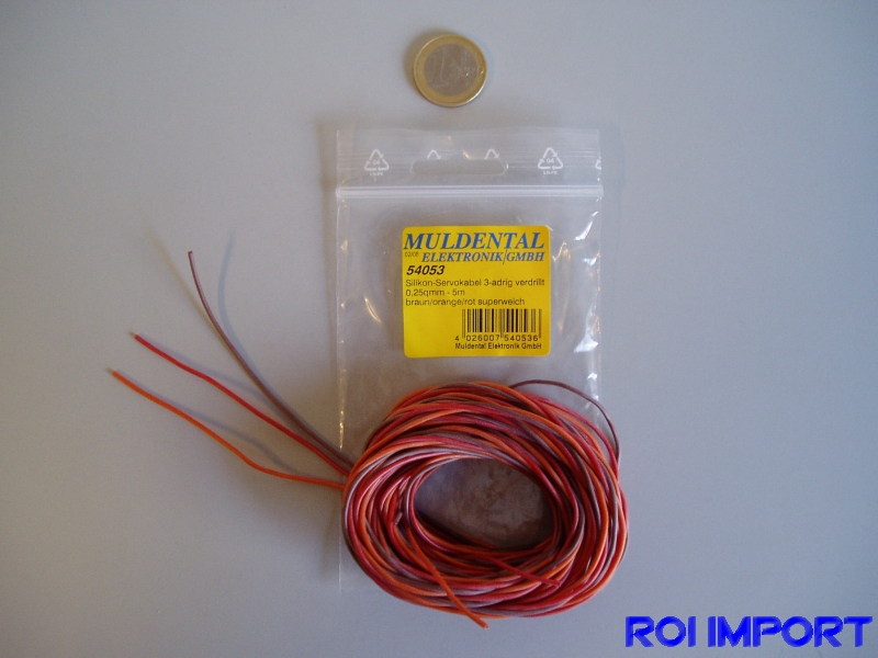 Cable servos silicona 0,25 mm2 Graupner (5 m)