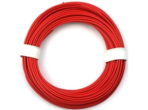Red silicone 1,0 qmm wire (50 m)