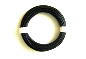 Cable silicona 1,0 mm2 negro (100 m)