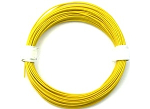 Cable silicona 0,5 mm2 amarillo (50 m)