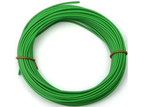Cable silicona 0,25 mm2 verde (100 m)