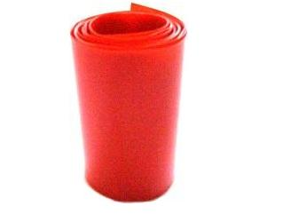 PVC transparent red battery termo-retract 68 mm (10 m)