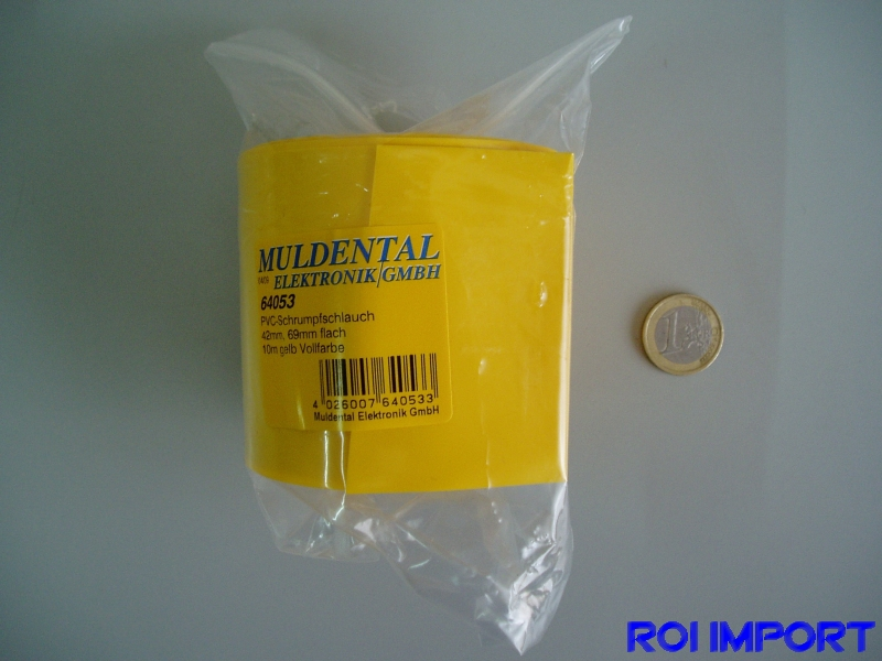 PVC yellow battery termo-retract 69 mm (10 m)
