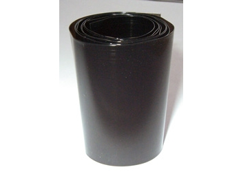 PVC transparent black termo-retract battery 185 mm (1 m)