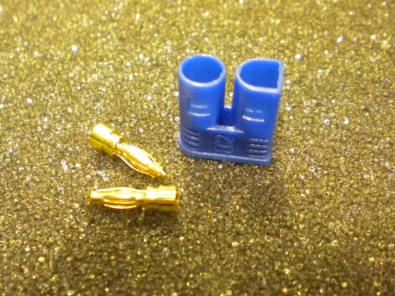 2 mm male connector (2 pcs) with safety connector