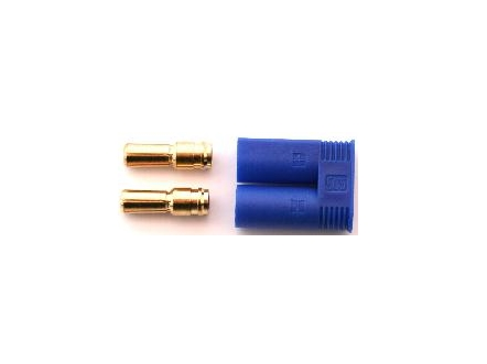 Conector 5,0 mm EC5 macho con funda (2 pcs)