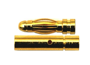 Conector banana oro 3 mm