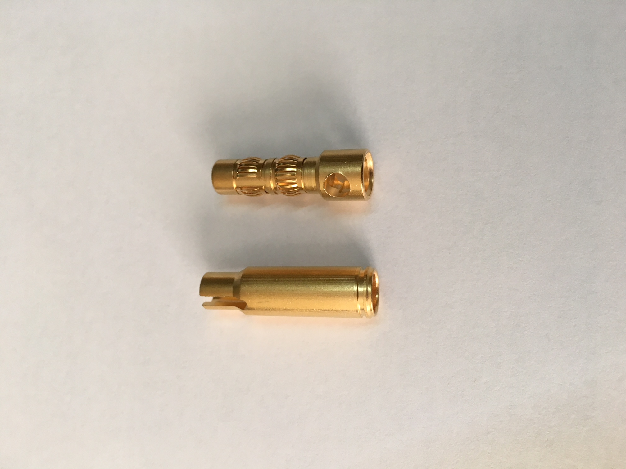 Connectors banna oro 8,0 mm (M/F)