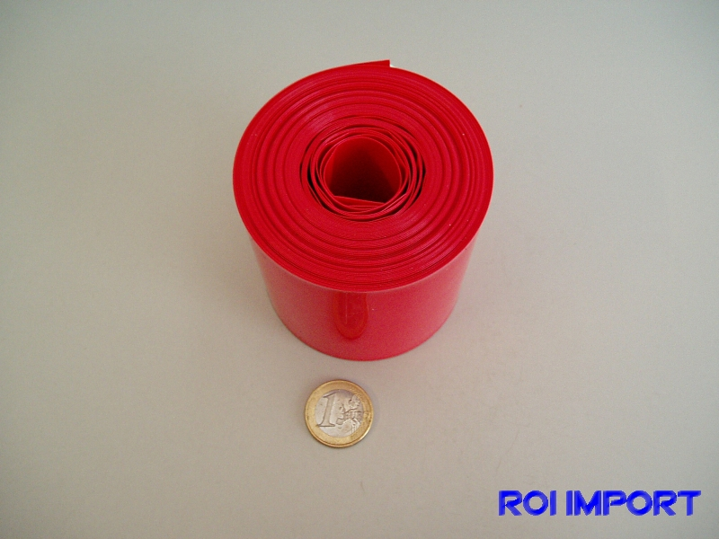 PVC red battery termo-retract 68 mm (10 m)