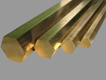 Brass hexagonal rod Ø 5 mm x 1000 mm