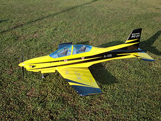 Pilatus PC-21 2100 mm + LG. YELLOW/BLACK (SebArt)