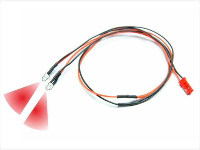 LED wire (rojo - 2pcs)