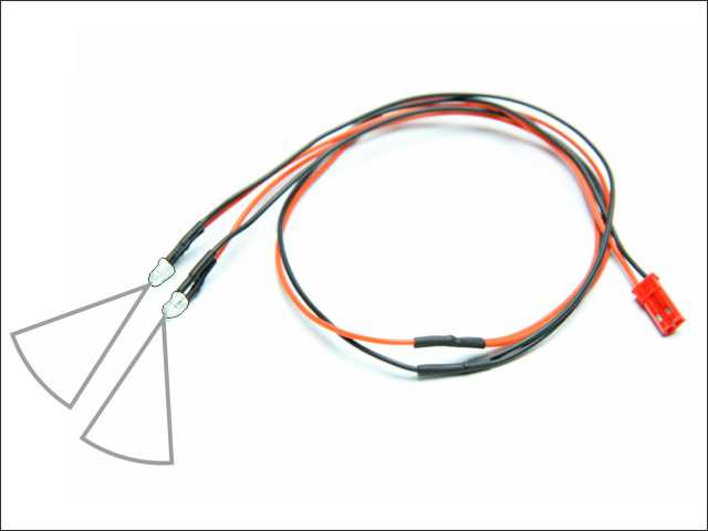 LED wire (white - 2pcs)