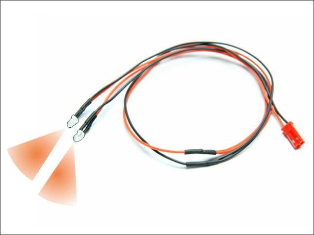 LED wire (orange - 2pcs)