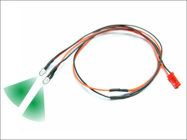 LED wire (green - 2pcs)
