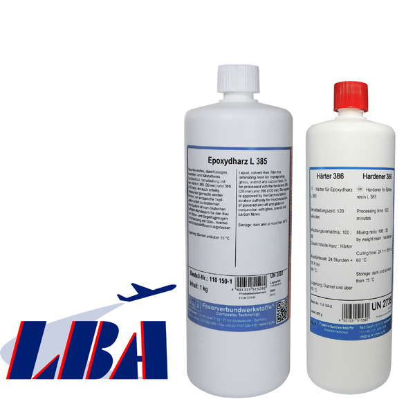 Epoxy Resin L 285 + Hardener 386, kit/ 1.35 kg