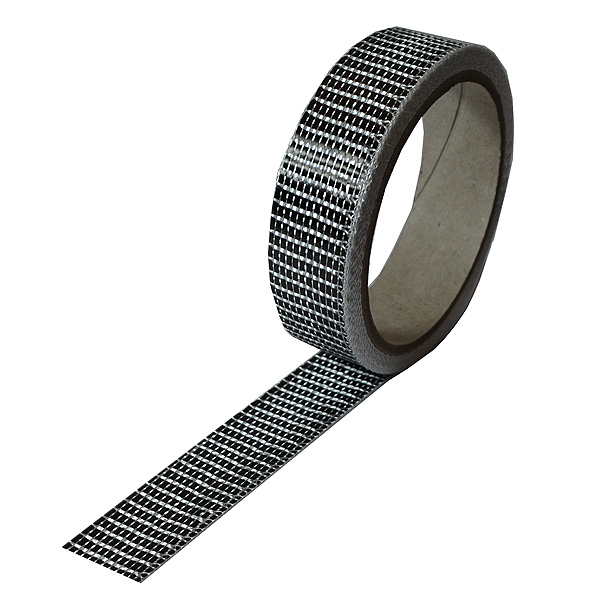 Carbon fibre tape 125 g/m², 3k, UD (25 mm) roll/ 10 m