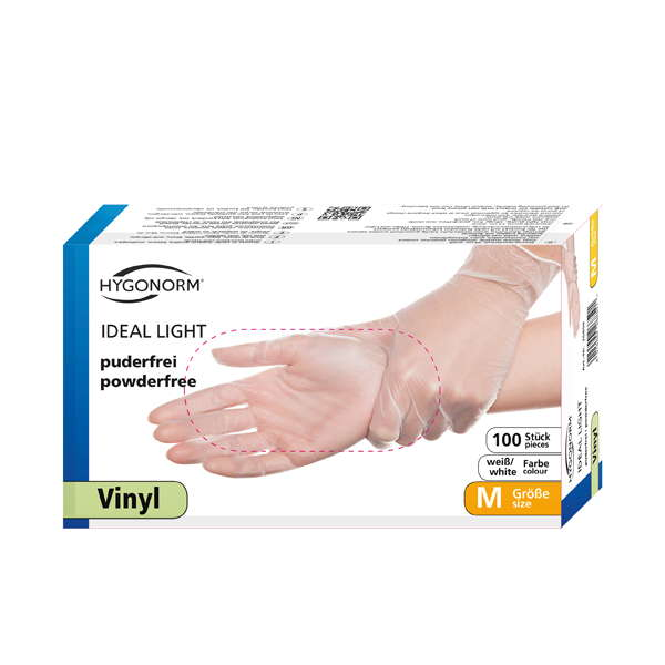 Vinyl Gloves IDEAL LIGHT, size M , box/ 100 pcs