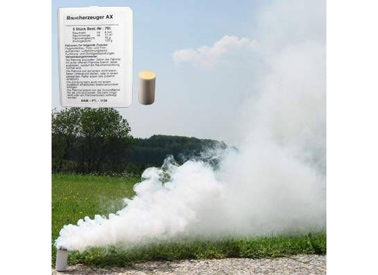 White smoke bombs AX-9 (10 pcs)